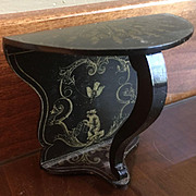 Antique Boule Ebony Black Monkey dollhouse console Table