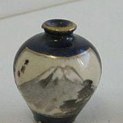 Antique Japanese miniature dollhouse porcelain decorative vase