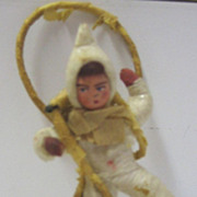 German Antique Christmas child cotton ornament