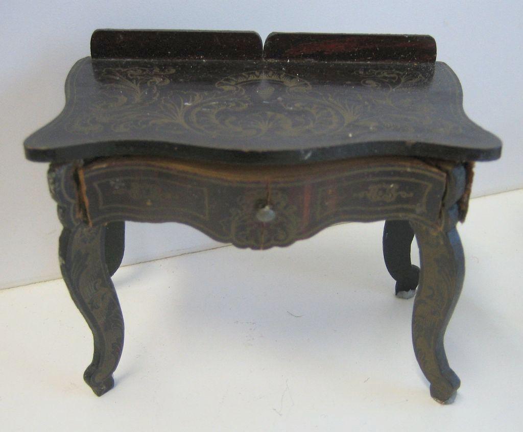 Antique Miniature German Boule Biedermeier Furniture Gilt Design From Sondrakruegerantiques On