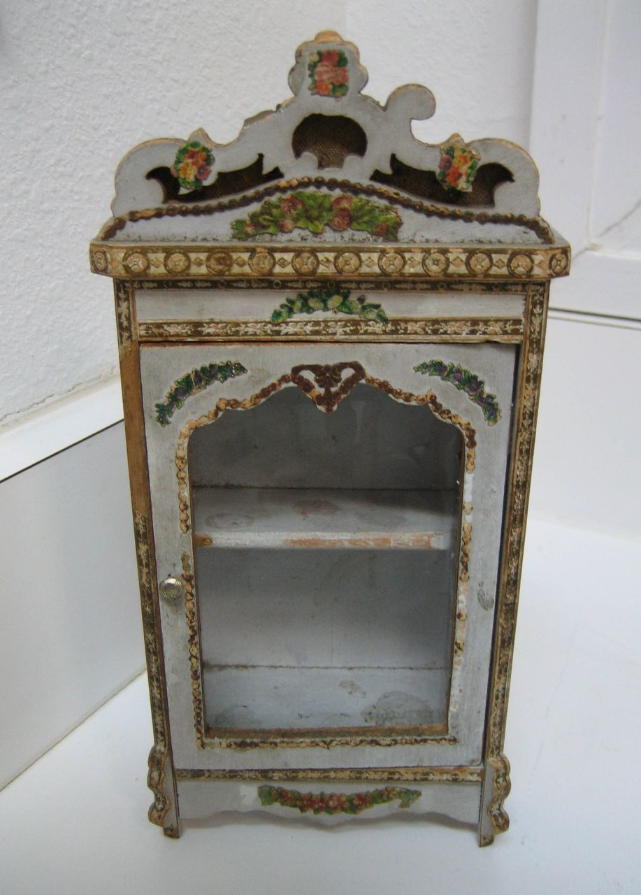 Antique Gottschalk Miniature Doll House French Armoire