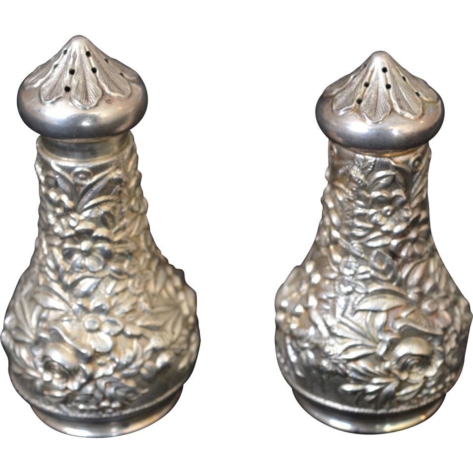 S. Kirk & Son Sterling Repousse Salt and Pepper Shakers