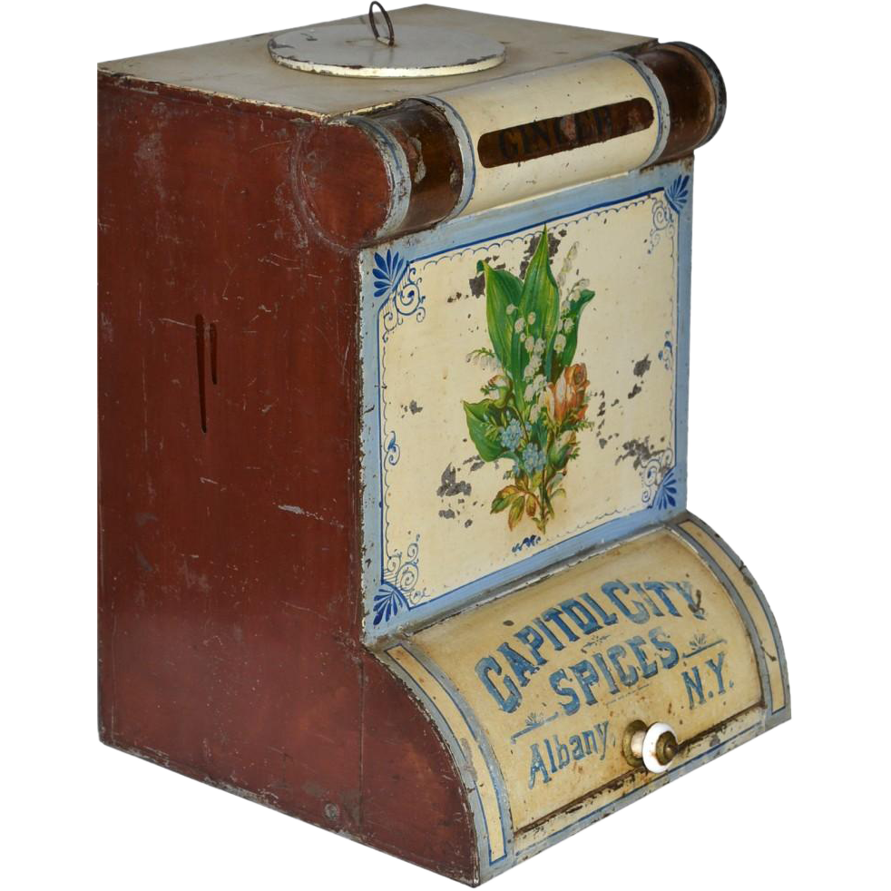 Victorian country store spice tin