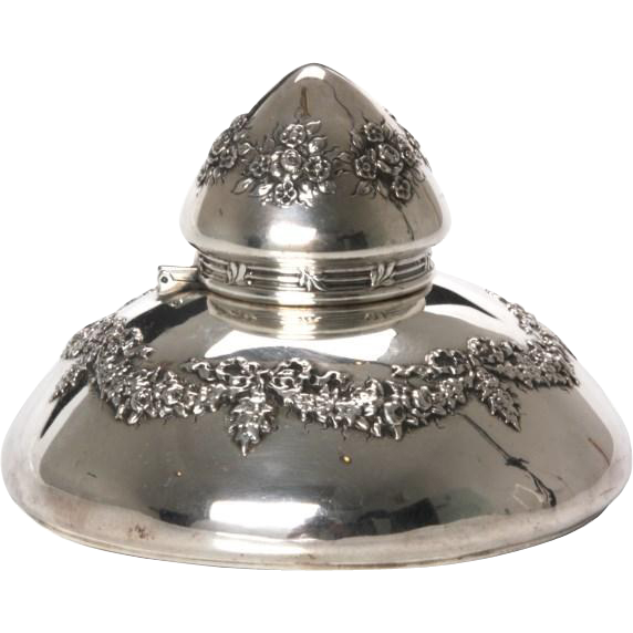 Tiffany sterling silver inkwell