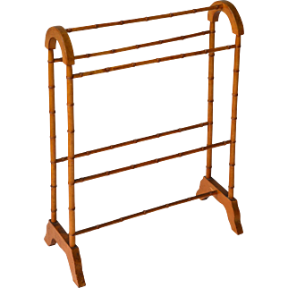 Faux bamboo Victorian maple towel bar