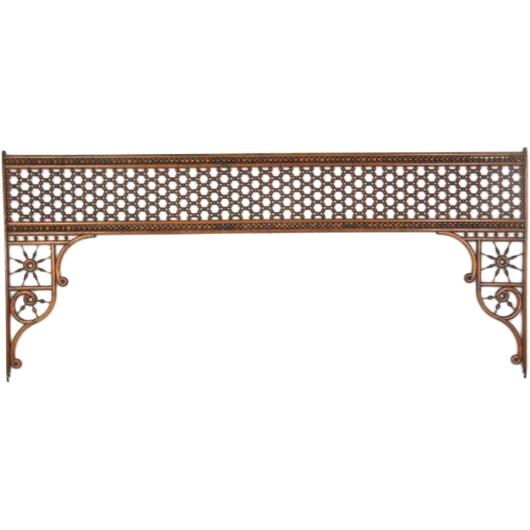 Large stick and ball oak fretwork room divider
