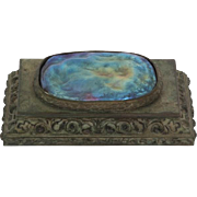 "Rare Tiffany Studios bronze night light with signature and ""8407"