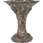 Stieff Silver Company sterling silver repousse vase