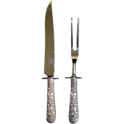 S. Kirk and Son sterling silver carving set with stainless steel blades