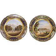 Pair of Scenic Portrait Plates