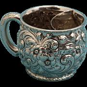 Dominick & Haff Sterling silver shaving mug