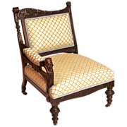 Herter Brothers Rosewood Aesthetic Style Victorian Armchair