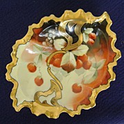 Handpainted Porcelain Bowl with Strawberries marked Pickard
