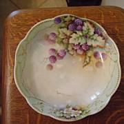 Vintage Limoges Bowl with Blackberries