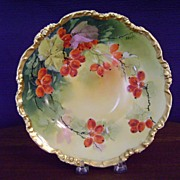 Limoges Handpainted Bowl with Currants by Burton