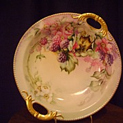 Vintage Limoges Blackberry Decorated bowl