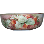 Raspberry decorated Antique Bowl Bavaria