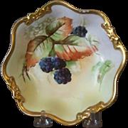 Handpainted Limoge Dessert Bowl