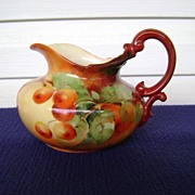 Antique Limoges Handpainted Milk Pitcher with Cherries