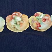 Vintage Limoges Handpainted Nut Bowls