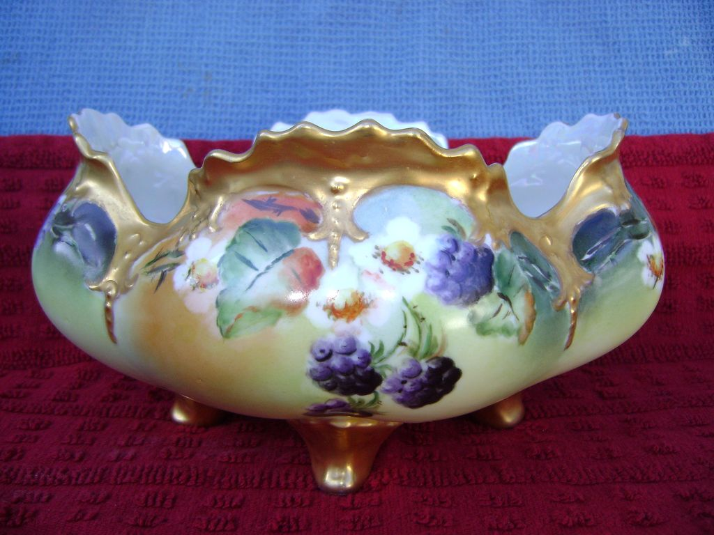 Antique Center Bowl with Berries