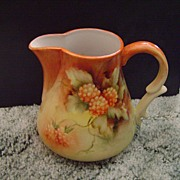 Vintage Handpainted Pitcher with Berries