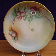 Vintage Handpainted Candy Dish with Berries