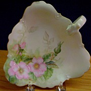 Antique Limoges Handpainted Floral Decorated Nappy