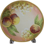Antique Handpainted Plate with Fruit