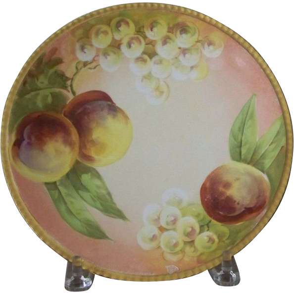 Hand Painted Plate With Fruit P