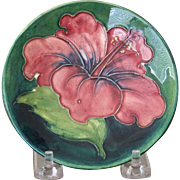 Moorcroft Pottery Hibiscus Pin Dish