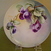 Vintage Haviland Plate with Plums