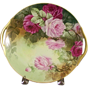 Limoges Hand Painted Plate with Roses