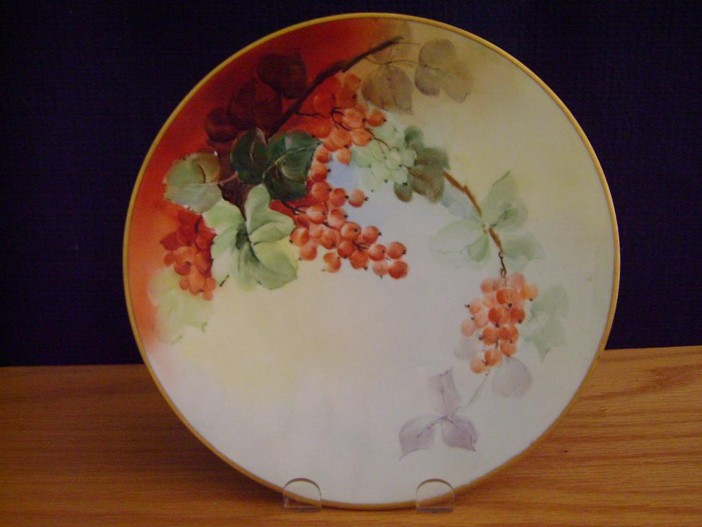 Vintage Limoges Handpainted Plate with Currants, Whites Art Co.