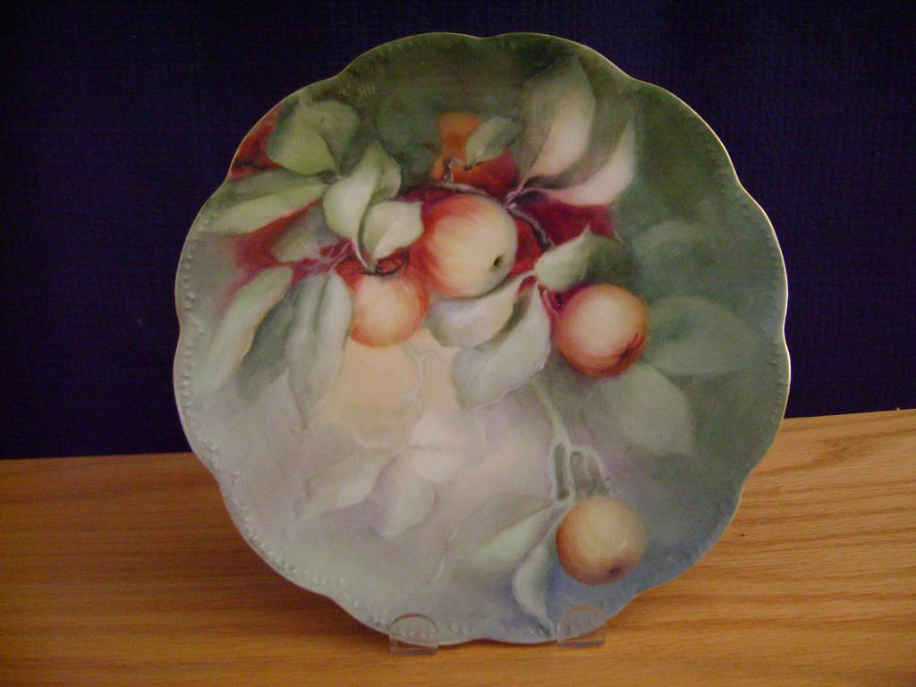 Vintage Limoges Handpainted Plate Decorated with Cherries