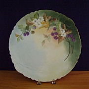 Antique Limoges Handpainted Blackberry Charger Haviland