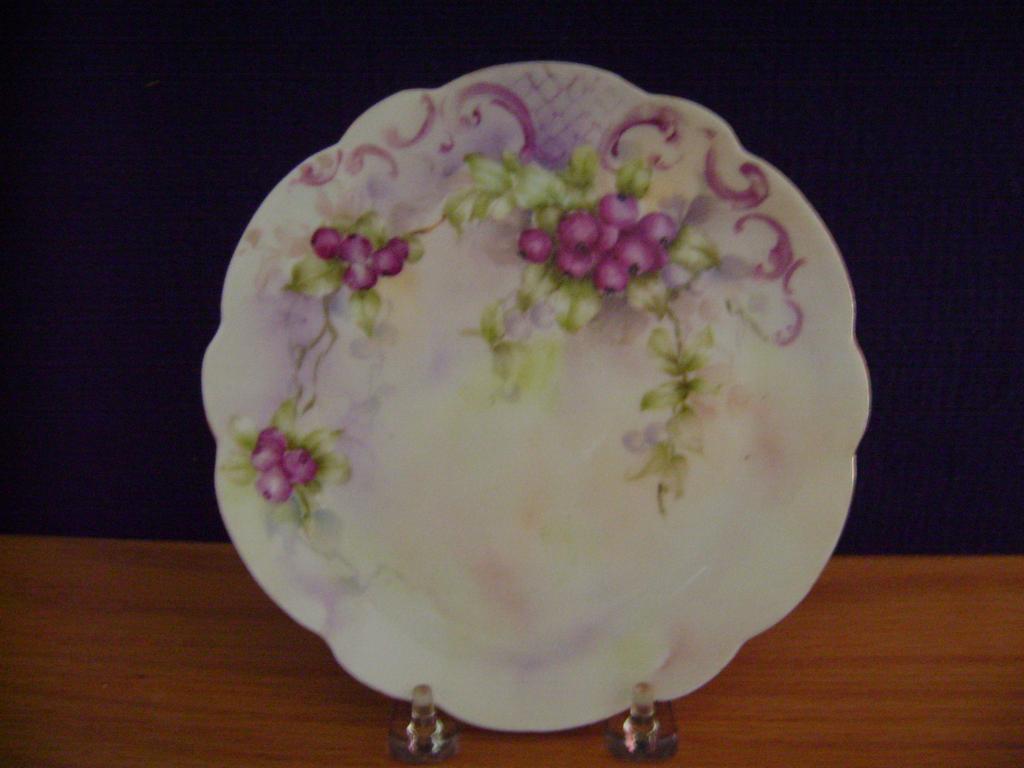 Vintage Handpainted Plate with Berries