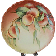 Limoges handpainted plate with Peaches