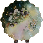 Handpainted Plate with Blackberries