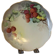 Handpainted Plates with Raspberries and Blackberries
