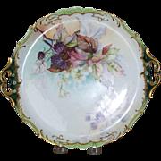 Handpainted Limoge Dessert Plate