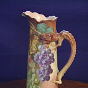 Vintage Limoge Handpainted Pitcher with grapes