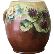 Limoges Handpainted Mug with Blackberries