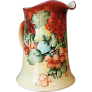 Handpainted Limoges Milk Pitcher with Currants