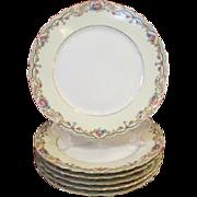Set of 6 Paul Muller Selb Bavaria Dinner Plates