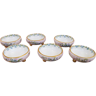 MZ Moritz Zdekauer Porcelain Pottery Salt Bowls Set of Six Austria