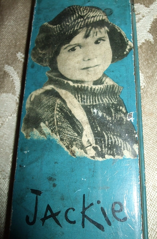 Vintage Jackie Coogan Metal Pencil Box