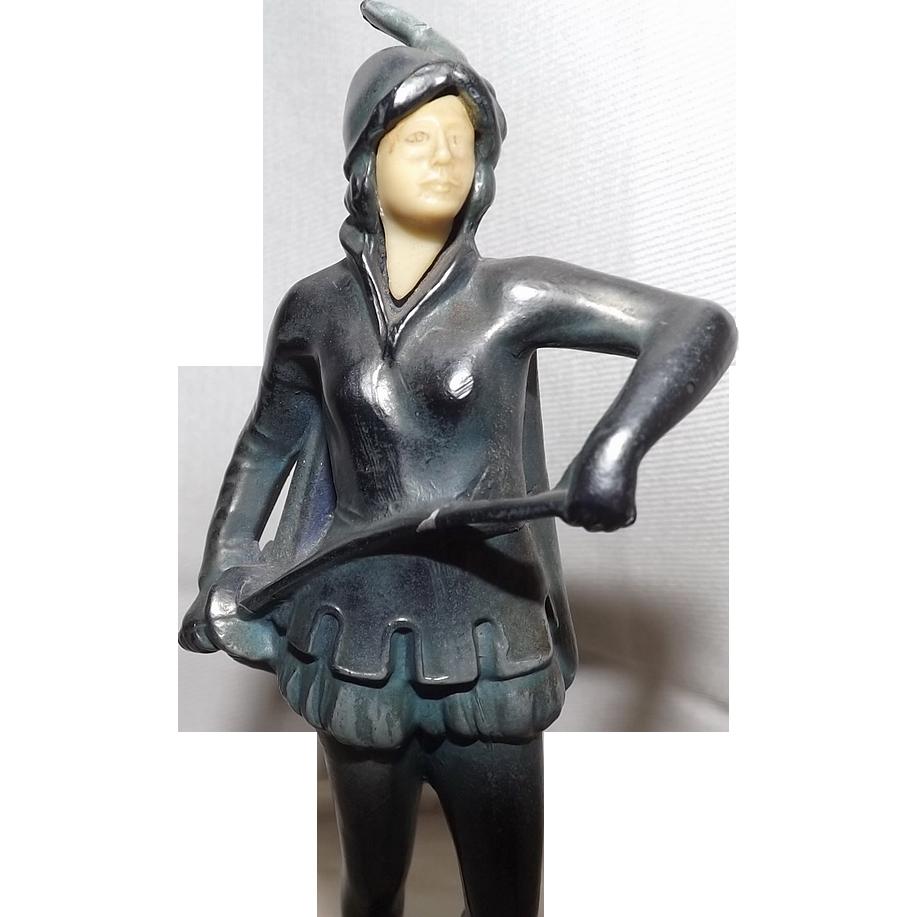 Fantastic Art Deco Joan Of Arc Powder Box