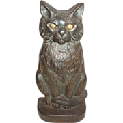 Great Old Cast Iron Cat Doorstop