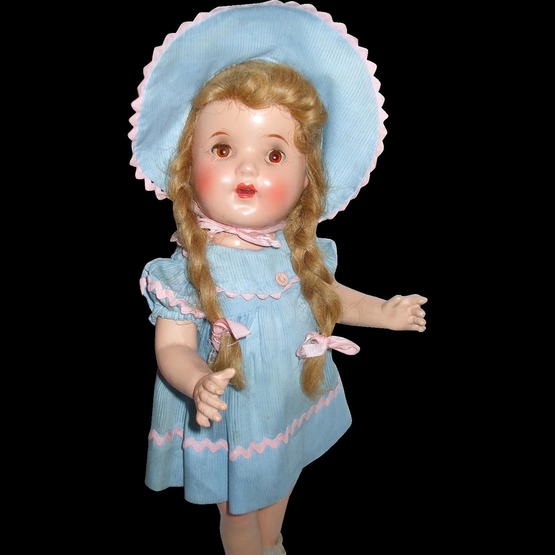 "17"" Horsman Bright Star All Original Doll And Box"
